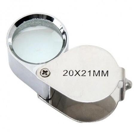 NedRo - 20x Silver Mini Jewelry Loupe Magnifier Glass - Magnifiers microscopes - AL690