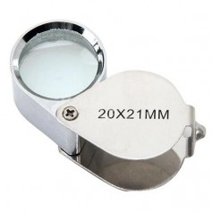 NedRo - 20x Silver Mini Jewelry Loupe Magnifier Glass - Magnifiers microscopes - AL690