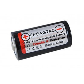 EagTac - EagTac 16340/RCR123A 750mAh 1.5A Rechargeable - Other formats - NK071-CB www.NedRo.us