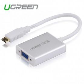 UGREEN, HDMI to VGA+3.5MM Audio+Mirco USB converter, HDMI adapters, UG102-CB, EtronixCenter.com