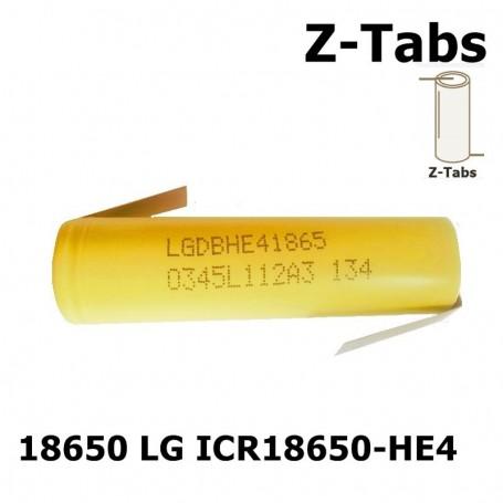 LG - LG 18650 LG ICR18650-HE4 20A 2500mAh - Size 18650 - NK046-CB