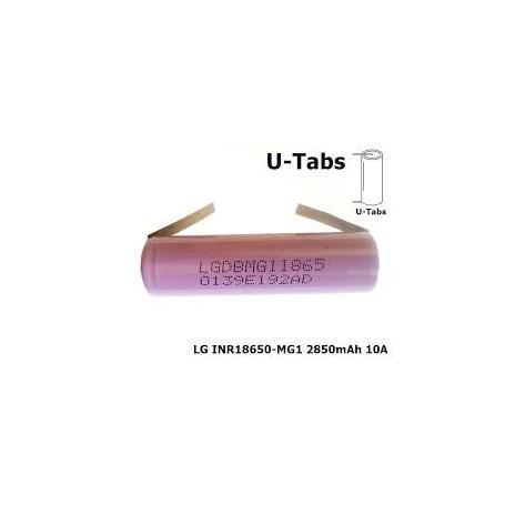 LG - 18650 LG INR18650-MG1 10A 2850mAh - Size 18650 - NK047-CB