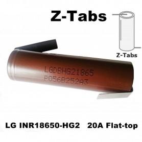 LG - LG INR18650-HG2 20A 3000mAh 3.6V - Size 18650 - NK070-CB www.NedRo.us