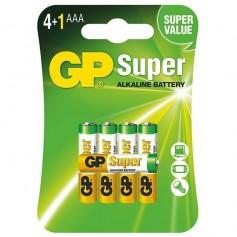 4+1 GP Super Alkaline AAA LR03/1.5V Battery