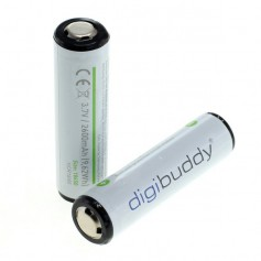 2x Approved 18650 2600mAh 3.7V 5A Li-ion rechargeable battery with PCB