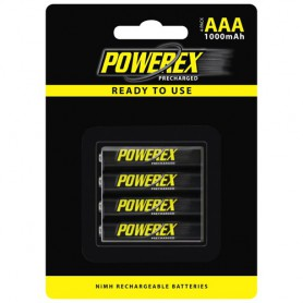 POWEREX, Powerex AAA 1000mAh Rechargeable, Size AAA, NK125-CB, EtronixCenter.com