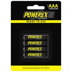 POWEREX, Powerex AAA 1000mAh Rechargeable, Size AAA, NK125-CB