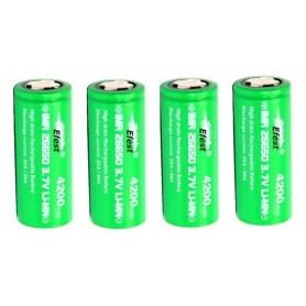 Efest - Efest IMR26650 Green 4200mAh 20A 3.7V Unprotected - Size C D and XL - NK140-CB www.NedRo.us