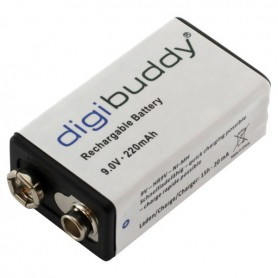 digibuddy, digibuddy Rechargable Battery 9V E-Block 220mAh, Other formats, ON3688, EtronixCenter.com