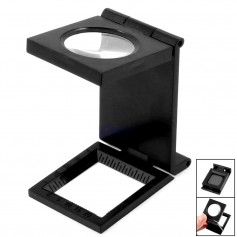 28mm Fold Texture Magnifier 10X Zoom Glass and Scale