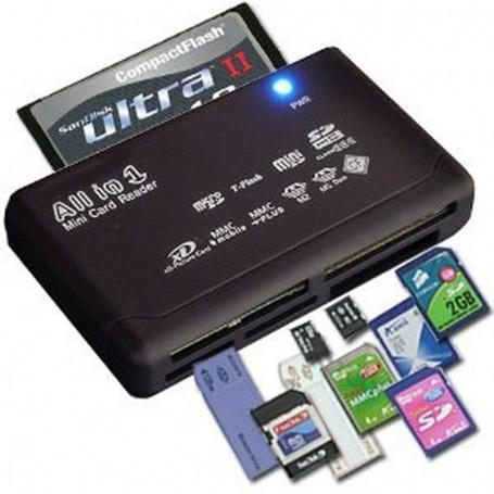 NedRo, Memory Card Reader USB External SD SDHC Mini Micro M2 MMC XD CF, SD and USB Memory, AL644