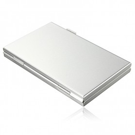 NedRo, 13 in 1 Portable High Quality Aluminum 10 TF 3 for SD Memory Cards Storage Box Case, SD and USB Memory, AL645