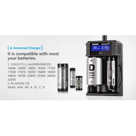 XTAR, XTAR ROCKET SV2 battery charger EU Plug, Battery chargers, NK193
