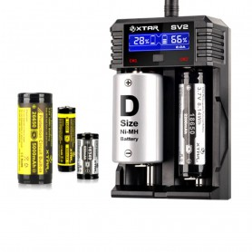 XTAR, XTAR ROCKET SV2 battery charger EU Plug, Battery chargers, NK193
