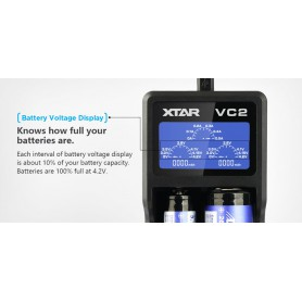 XTAR, XTAR VC2 USB battery charger, Battery chargers, NK198, EtronixCenter.com