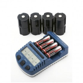 Techno Line, Technoline BC1000 charger (with 4 AA batteries) EU Plug, Battery chargers, BC1000