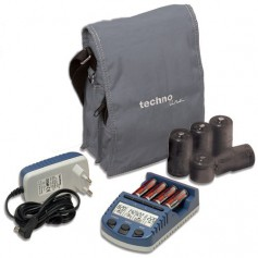 Techno Line - Technoline BC1000 charger (with 4 AA batteries) EU Plug - Battery chargers - BC1000