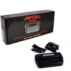 Japcell - 8 channels Japcell BC-800 battery charger - Battery chargers - BC800 www.NedRo.us