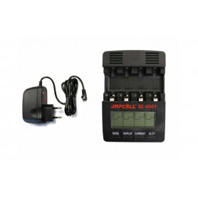 Japcell - 4 channels Japcell BC-4001 battery charger - Battery chargers - BC4001 www.NedRo.us