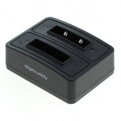 Dual Battery Charging Dock compatible with 1302 Sennheiser BA 90