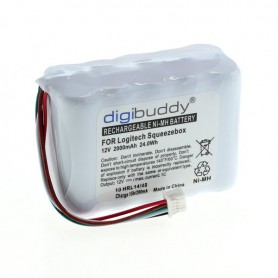 digibuddy - Digibuddy battery compatible with Logitech Squeezebox NiMH - Electronics batteries - ON3853 www.NedRo.us