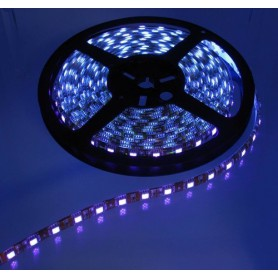 Oem - UV Ultraviolet 12V Led Strip 60LED IP20 SMD3528 - Black PCB - LED Strips - AL980-CB