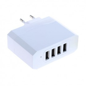 OTB - 4-Portos USB 4.8A Multi adapter Auto-ID - EU Plug - Ac charger - ON3927