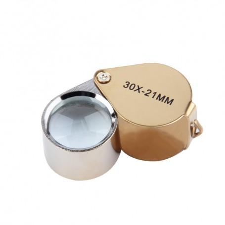 NedRo - 30x-zoom Golden Mini Jewelry Loupe Magnifier Glass - Magnifiers microscopes - AL065