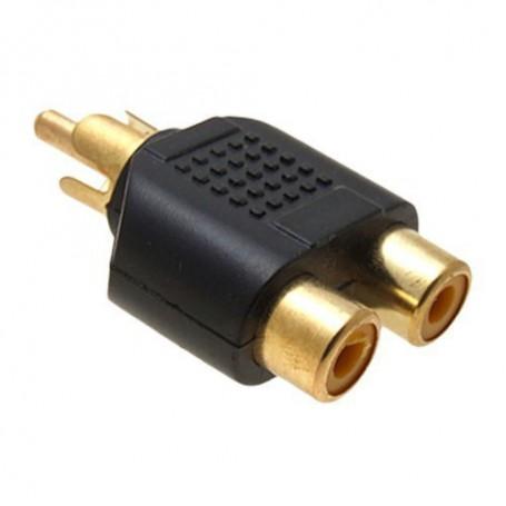 NedRo, RCA Male to 2 RCA Female Converter, Audio adapters, AL746-CB, EtronixCenter.com