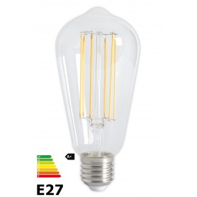 Calex, Vintage LED Lamp 240V 4W 350lm E27 ST64 Clear 2300K Dimmable, Vintage Antique, CA072-CB, EtronixCenter.com