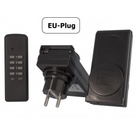 Calex, 2x Remote Controlled Switch Socket with remote for outdoor use, Plugs and Adapters, CA036, EtronixCenter.com