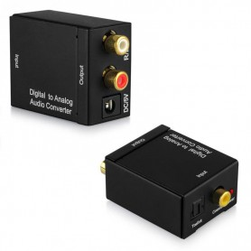 NedRo, Digital to Analog Audio Converter box with USB power supply, Audio adapters, AL837, EtronixCenter.com