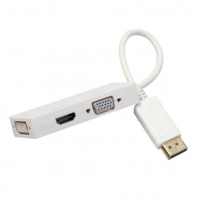 NedRo, 3in1 DisplayPort DP Male to DVI, HDMI and VGA Female, DVI and DisplayPort adapters, AL723-CB