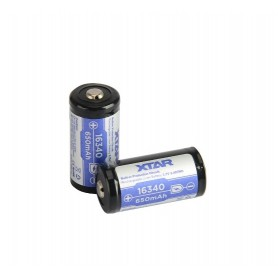 XTAR, XTAR 16340 Li-ion 650mAh 3.6V - Protected, Other formats, BL243-CB