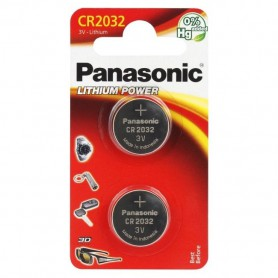 Panasonic - Panasonic CR2032, DL2032 225mAh 3V lithium button cell battery (duo blister) - Button cells - BL245-CB