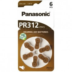 Panasonic - Panasonic 312 / PR312 / PR41 Hearing Aid Battery - Hearing batteries - BL247-CB