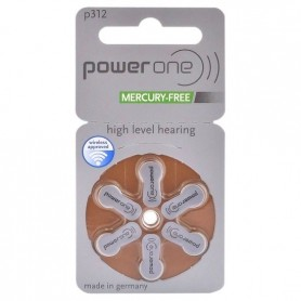 Power One by Varta 312 / PR312 / PR41 Hearing Aid Battery