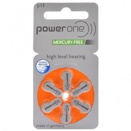 Varta - Power One by Varta 13 / PR48 / P13 1,45V Hearing Aid Battery - Mercury Free - Button cells - BS087-CB www.NedRo.us