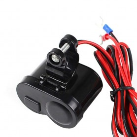 NedRo - Motorcycle Bike USB Cigarette Lighter Charger - Auto charger - AL594 www.NedRo.us