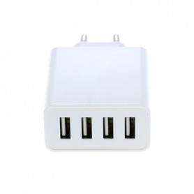 OTB - 4-Port 100-250V 5.0A Multi USB-adapter with AUTO-ID white - Ports and hubs - ON4625 www.NedRo.us