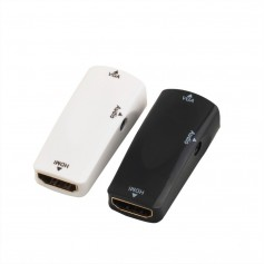 Oem - HDMI Female to VGA Female converter adapter + audio - HDMI adapters - AL577-CB
