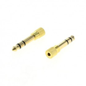 OTB, 3.5mm to 6.35mm jack adapter stereo (female to male) gold plated - 2 pieces, Audio adapters, ON4633, EtronixCenter.com