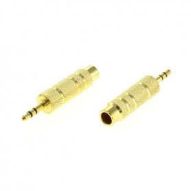 OTB - OTB 6,35MM TO 3,5MM STEREO JACK ADAPTER GOLD PLATED x2 Pcs - Audio adapters - ON4638 www.NedRo.us