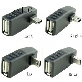 NedRo, Mini USB Male to USB Female Adapter Converter, USB adapters, AL569-CB, EtronixCenter.com