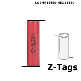 LG - LG IMR18650-HE2 18650 Rechargeable battery - Size 18650 - NK077-CB www.NedRo.us