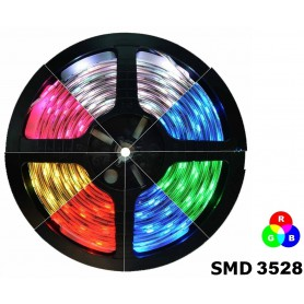 NedRo - RGB IP20 LED Strip SMD3528 60led p/m - LED Strips - AL563-CB