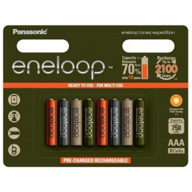 Eneloop, 8x AAA Panasonic Eneloop Expedition Limited Edition, Size AAA, NK213, EtronixCenter.com