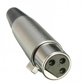 NedRo, 6mm 3 Pin XLR Jack Female-Adapter For Microphone Speaker 18AWG Cable Silver, Audio adapters, AL889, EtronixCenter.com
