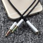 HOCO - 3.5mm Female Dual Male Headset Mic Audio Splitter - Audio cables - AL485-CB