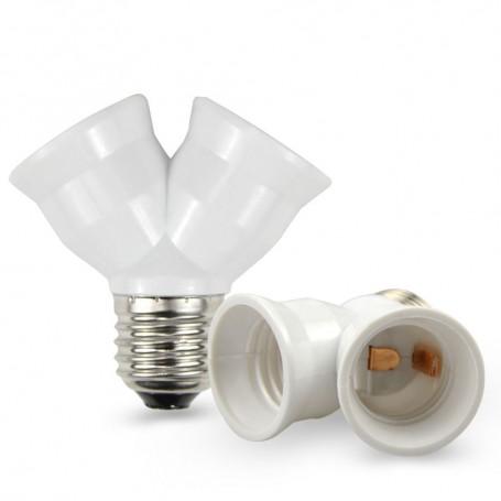 Oem - E27 to 2 x E27 Converter Splitter Adapter - Light Fittings - LCA0012-CB